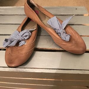 Ballet flat shoes with ribbon 🎀