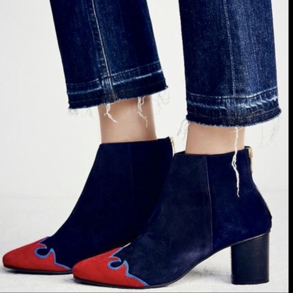 Red Levi Zipper Shoes