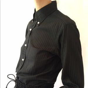 Thom Browne Tops - Thom Brown Black Cotton Button Down Small Barneys