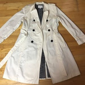 Banana Republic Cream Trench Coat