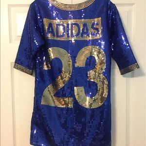 b73c7b9e Jeremy Scott x Adidas Dresses - Adidas Jeremy Scott Jersey Sequin Dress