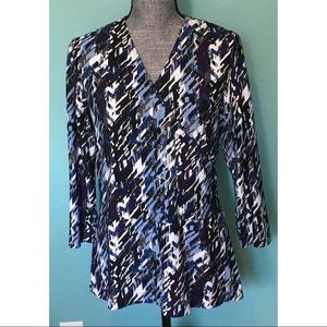 Chico's Tops - Chico's Wrap look Top Crossover Stretch 2 M L 14