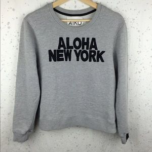 Aiko Sweaters - Aiko Aloha New York Sweatshirt