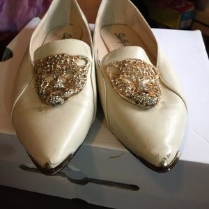 shellys Shoes - Lion studded loafers