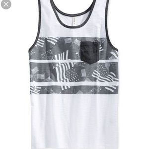 Univibe Other - univibe mens lady liberty flag print stripe tank