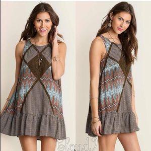 Cloud 9 Dresses & Skirts - Boheme Brown Tunic Dress