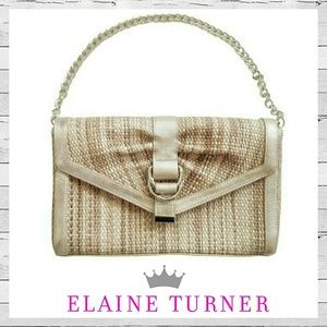 Elaine Turner Handbags - NWOT Elaine Turner Lrg Clutch With Optional Chain