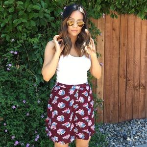 Sale! Burgundy Floral Skirt
