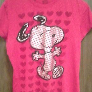Peanuts Tops - Snoopy T-shirt