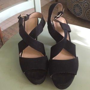 H&M 70's flare black sandals