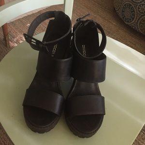 H&M DIVIDED Black Platform Sandal