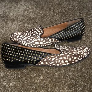 DV by Dolce Vita Shoes - Dolce Vita Rare Fur Leather Studded Flats Size 10