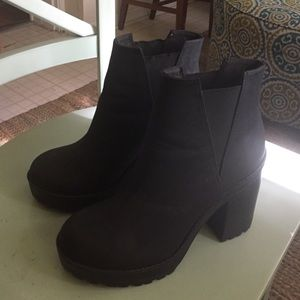 H&M Black Platform Boots