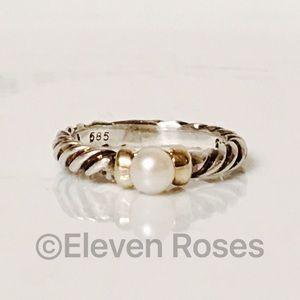 David Yurman Jewelry - David Yurman Sterling 14k White Pearl Hampton Ring