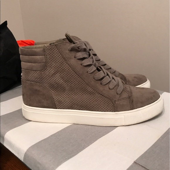 8b12a09fec7 Steve Madden Demmie high top suede sneakers