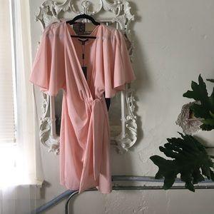 AQ/AQ Dresses & Skirts - AQ/AQ Pink Wrap Dress