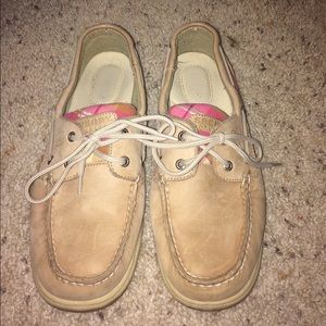 Sperry Top-Sider Shoes - Pink plaid Sperry boat shoes