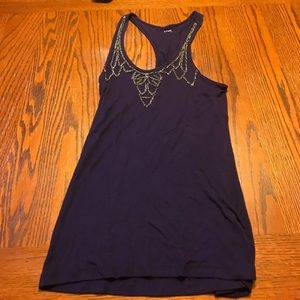 Purple tank top with beading