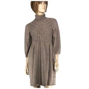 Alyx Dresses & Skirts - Turtleneck Sweater Dress with Lattice Design
