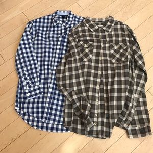 Other - Set of 2 kids plaid shirts GAP and MOSSIMO