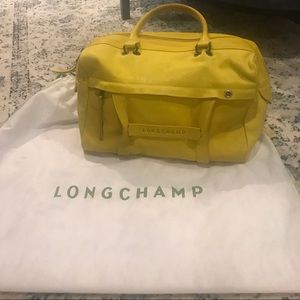 Longchamp 3D Satchel in Lime