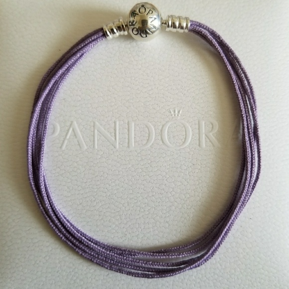 pandora s3 pandora multi strand purple charm bracelet