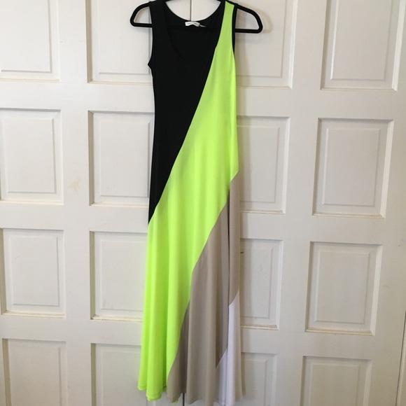 26a8c835c139 Calvin Klein Dresses | Nwt Color Block Maxi Dress | Poshmark