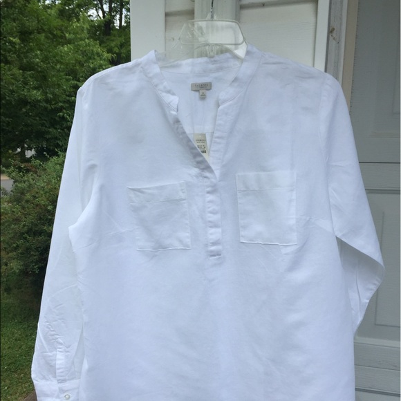 White Linen Tunic Blouse 22
