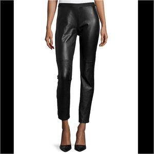 NWOT-Eileen Fisher Leather and Ponte Sz Small Pant