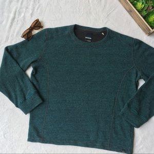 Prana Other - Men's Prana striped wool blend teal sweater