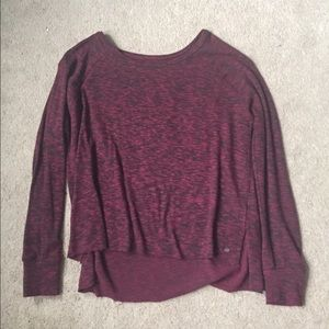 American Eagle Outfitters Tops - Soft and sexy dark red tee shirt.