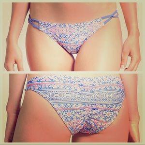 NWOT Cheeky Purple, White, & Orange Bikini Bottom
