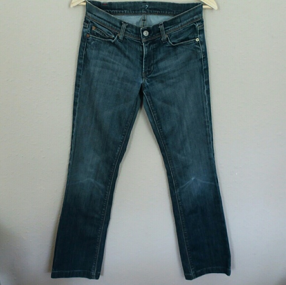 85 off 7 for all mankind denim sale 7 for all mankind mia edition bootcut jeans from moxie. Black Bedroom Furniture Sets. Home Design Ideas