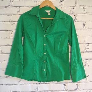 Banana republic emerald green button down blouse