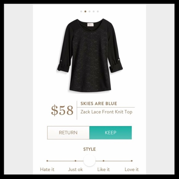 Skies Are Blue Tops - NWT Stitch Fix Skies Are Blue Zack Lace Front Top