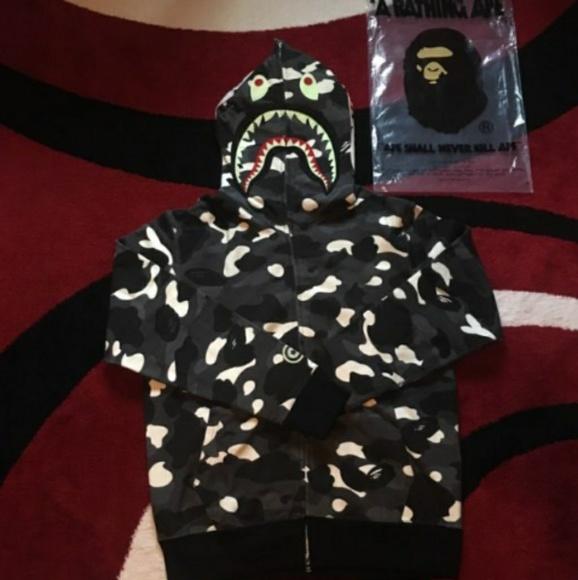 4c619772fa3e Bathing Ape BAPE Men s Full Zipper Hoodie Jackets   Coats