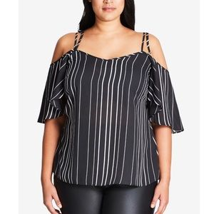 City Chic Tops - City Chic off the Shoulder top