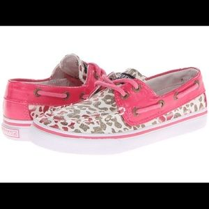 Sperry Top-Sider Other - Sprerry Bahama Boat Shoe Gold Coral Leopard SZ 2.5