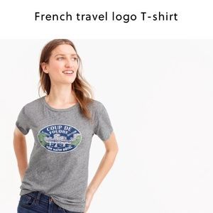 J. Crew Tops - NWT J. Crew French Logo T- shirt