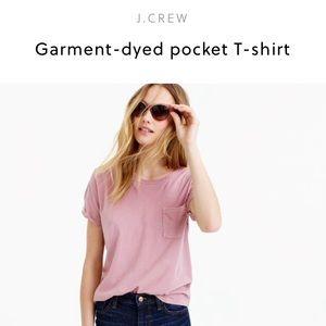 J. Crew Tops - J. Crew garment dyed pocket t- shirt