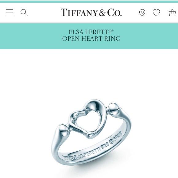 1287c877c Tiffany & Co. Jewelry   Tiffany Co Elsa Peretti Open Heart Ring Size ...