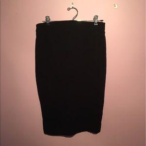 Carmen Marc Valvo Black Pencil Skirt