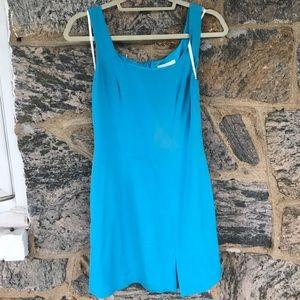 HUGO Dresses & Skirts - Silk Blue Dress by Hugo Buscati.