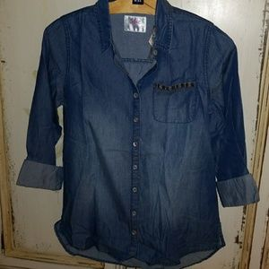 Justice Other - Justice denim top size 14
