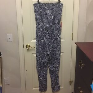 Lilly for Target Strapless Jumpsuit