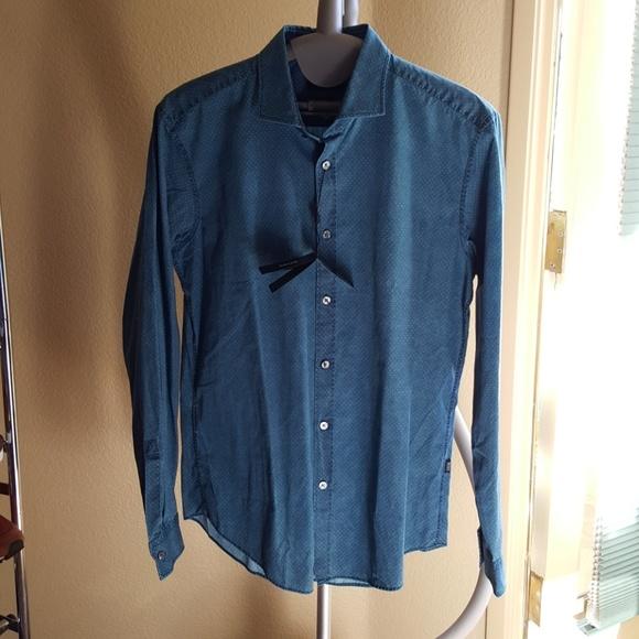 72 off hugo boss other hugo boss dress shirt indigo for Hugo boss formal shirts