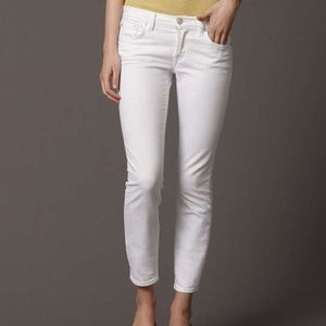 White Fossil Ankle Jeans