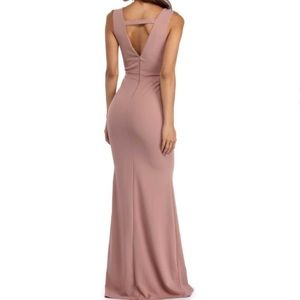 Jovani Dresses & Skirts - Mauve deep v prom dress
