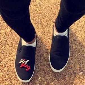 Shoes - ❤️🖤Girl Gang custom made Sneakers🖤❤️