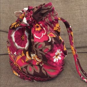 Vera Bradley Carnaby ditty bag with plastic lining